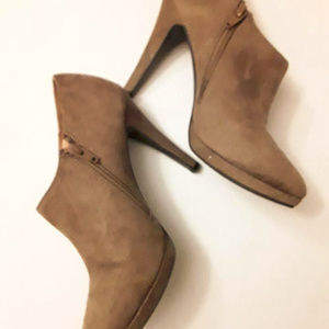 Merona Tan Suede Heeled Booties